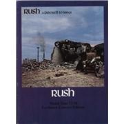 Rush A Farewell To Kings - EX tour programme UNITED KINGDOM