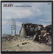 Rush A Farewell To Kings vinyl LP UNITED KINGDOM
