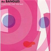 The Bangles Something That You Said CD single UNITED KINGDOM