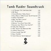 U2 Tomb Raider Soundtrack CD-R acetate UNITED KINGDOM