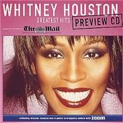 Whitney Houston Greatest Hits Preview CD CD single UNITED KINGDOM