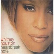 Whitney Houston Heartbreak Hotel - Picture sleeve CD-R acetate UNITED KINGDOM