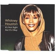 Whitney Houston It's Not Right But It's Okay CD single UNITED KINGDOM