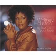 Whitney Houston My Love Is Your Love CD single UNITED KINGDOM