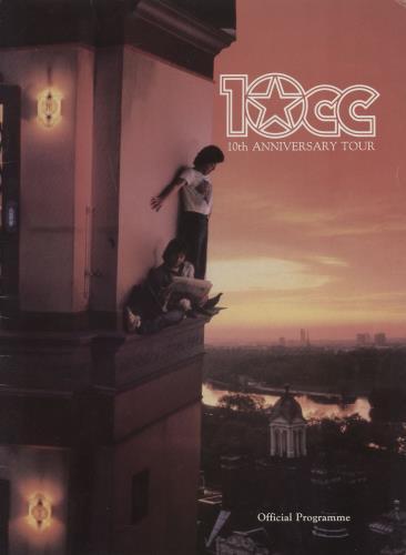 10cc 10th Anniversary Tour tour programme UK 10CTRTH125622