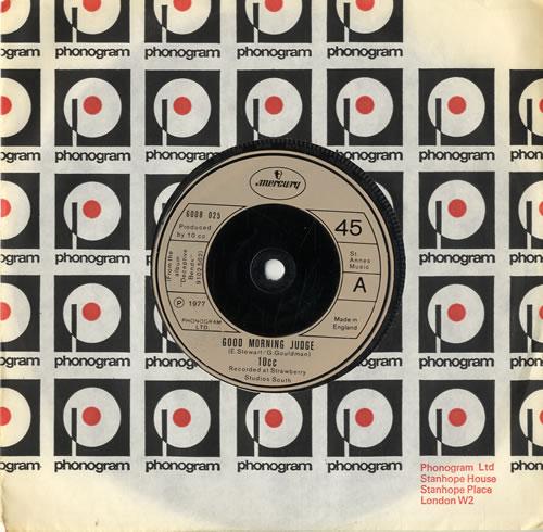 """10cc Good Morning Judge 7"""" vinyl single (7 inch record) UK 10C07GO549898"""