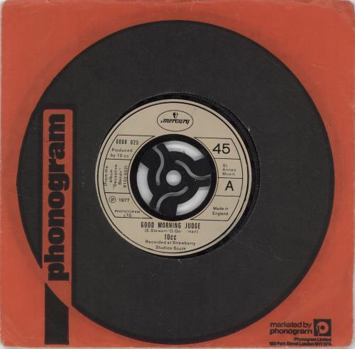 """10cc Good Morning Judge 7"""" vinyl single (7 inch record) UK 10C07GO701579"""