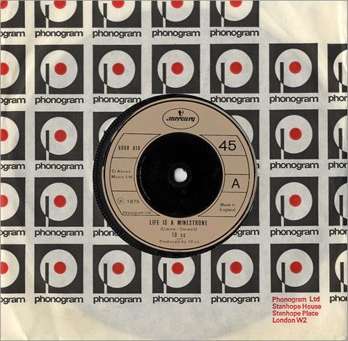 "10cc Life Is A Minestrone - injection 7"" vinyl single (7 inch record) UK 10C07LI336176"