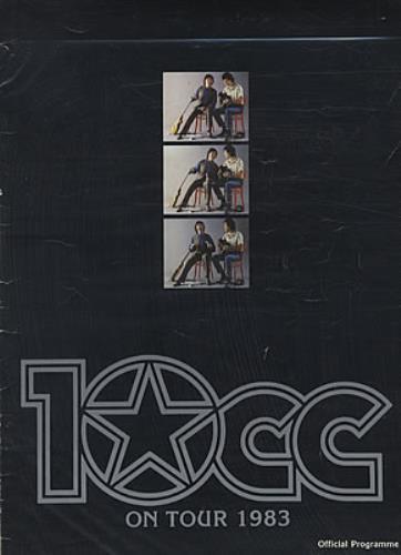 10cc On Tour 1983 tour programme UK 10CTRON192161