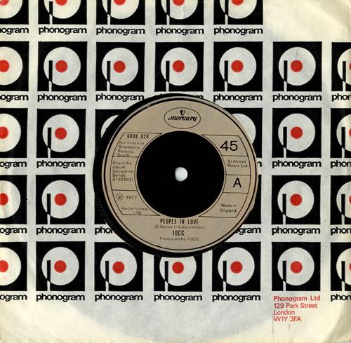 "10cc People In Love 7"" vinyl single (7 inch record) UK 10C07PE553770"
