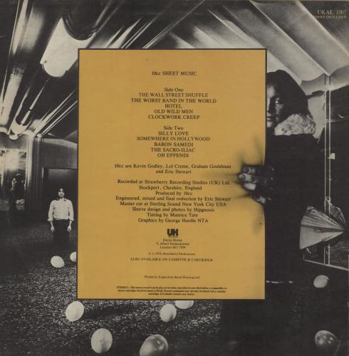 10cc Sheet Music - Stickered Sleeve - EX vinyl LP album (LP record) UK 10CLPSH761336