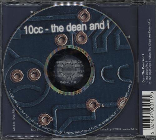 "10cc The Dean And I CD single (CD5 / 5"") UK 10CC5TH382507"