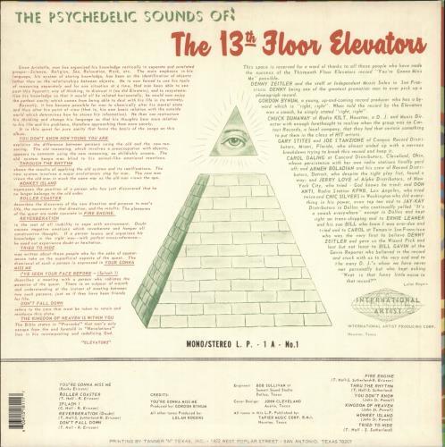13th Floor Elevators The Psychedelic Sounds Of The 13th Floor Elevators - 180gm 2-LP vinyl record set (Double Album) US 13F2LTH730259