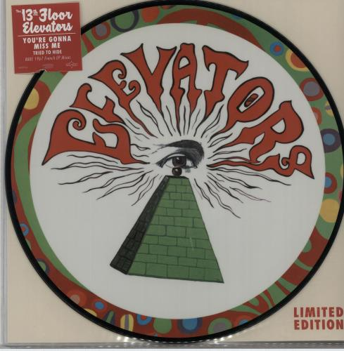 "13th Floor Elevators You're Gonna Miss Me - RSD 16 10"" Vinyl Picture Disc (10"" Record Single) UK 13F1PYO651006"