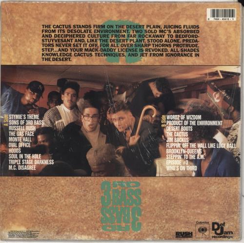 3rd Bass The Cactus Album - stickered shrink vinyl LP album (LP record) US 3RDLPTH712066