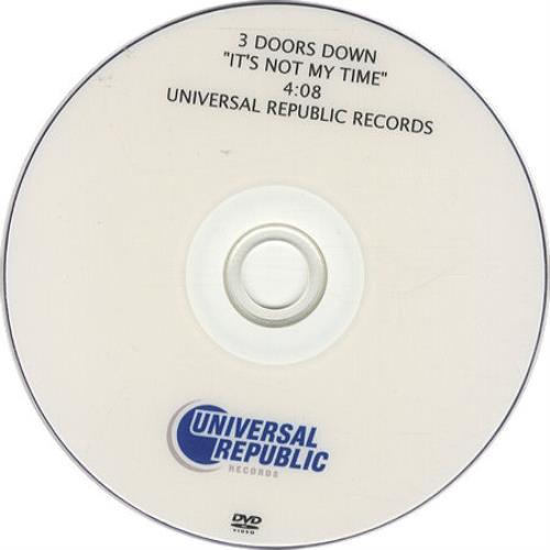 3 Doors Down It's Not My Time promo DVD-R US 3DDDRIT436510