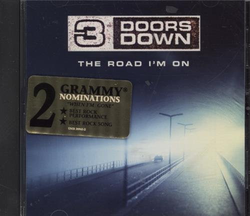 "3 Doors Down The Road I'm On CD single (CD5 / 5"") US 3DDC5TH250208"