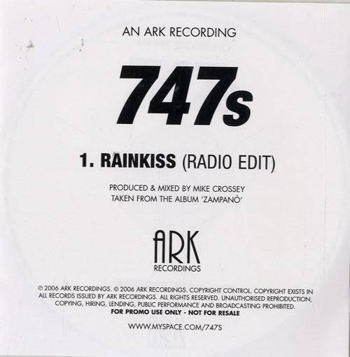 747s Rainkiss CD-R acetate UK 747CRRA478554