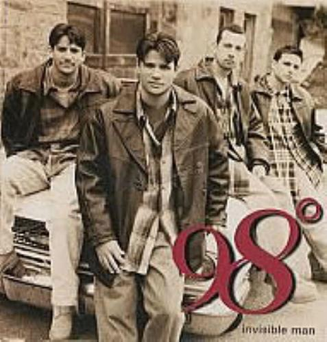 "98 Degrees Invisible Man CD single (CD5 / 5"") UK 98OC5IN157193"