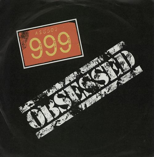 "999 Obsessed 7"" vinyl single (7 inch record) UK 99907OB573205"