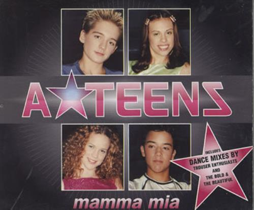 A*Teens Mamma Mia UK 2-CD single set (Double CD single) (208165)