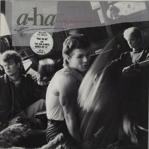 A-Ha Hunting High And Low - Stickered vinyl LP album (LP record) UK AHALPHU660407