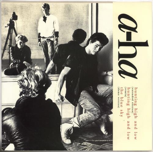 "A-Ha Hunting High And Low 12"" vinyl single (12 inch record / Maxi-single) UK AHA12HU27960"