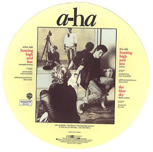 """A-Ha Hunting High And Low 12"""" vinyl picture disc 12inch picture disc record UK AHA2PHU08010"""