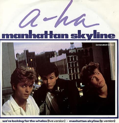 "A-Ha Manhattan Skyline - Extended Remix 12"" vinyl single (12 inch record / Maxi-single) UK AHA12MA84246"