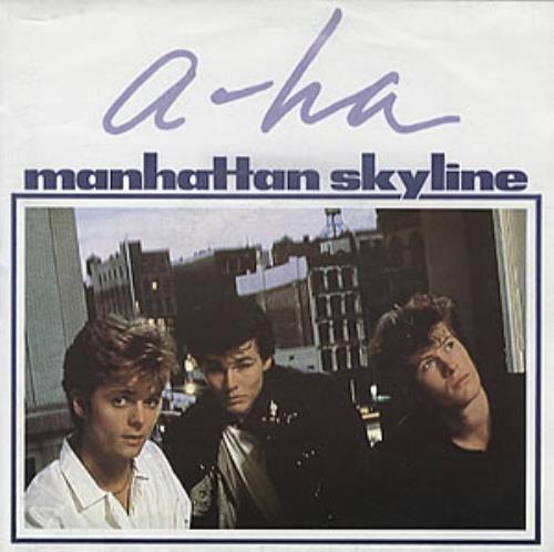 "A-Ha Manhattan Skyline - Poster Sleeve 7"" vinyl single (7 inch record) UK AHA07MA08229"