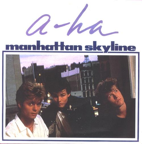 "A-Ha Manhattan Skyline 7"" vinyl single (7 inch record) UK AHA07MA38394"