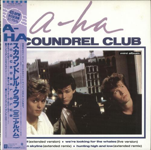 "A-Ha Scoundrel Club 12"" vinyl single (12 inch record / Maxi-single) Japanese AHA12SC129197"