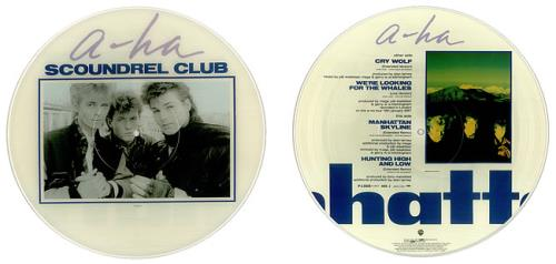 "A-Ha Scoundrel Club 12"" vinyl picture disc 12inch picture disc record Japanese AHA2PSC38464"