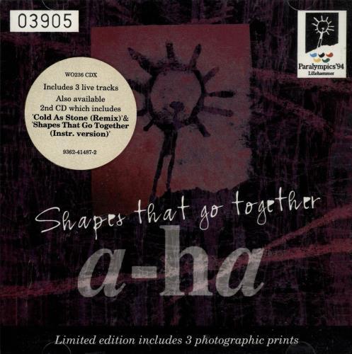 """A-Ha Shapes That Go Together + Photo Prints CD single (CD5 / 5"""") UK AHAC5SH26464"""