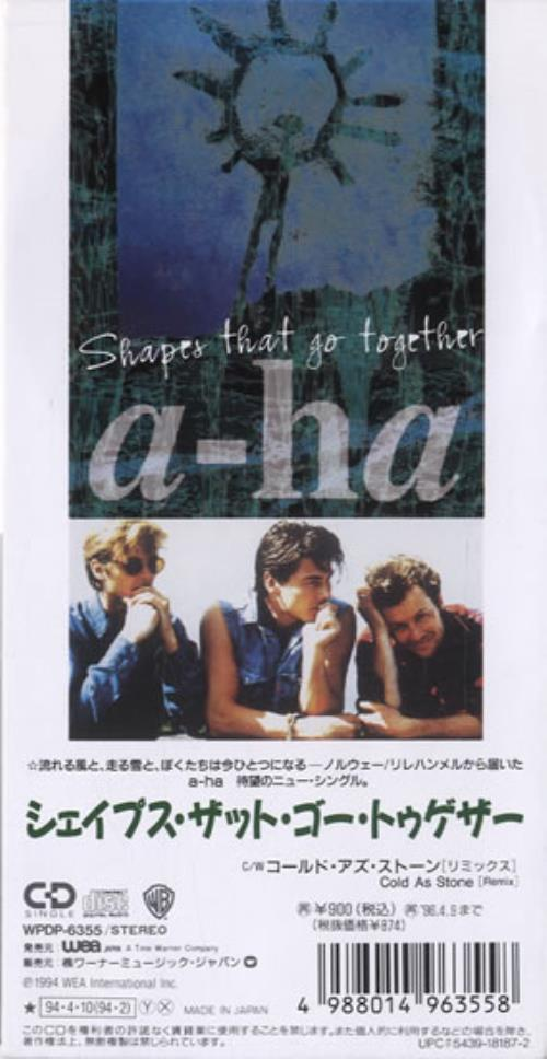 "A-Ha Shapes That Go Together 3"" CD single (CD3) Japanese AHAC3SH25296"