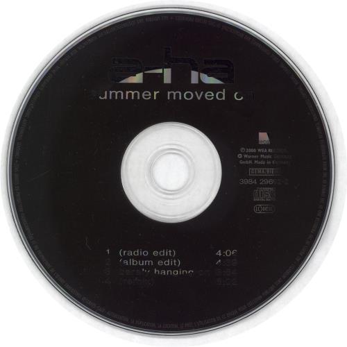 """A-Ha Summer Moved On CD single (CD5 / 5"""") German AHAC5SU152726"""