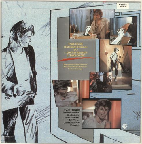 "A-Ha Take On Me - 3rd Issue - Colour Sleeve 12"" vinyl single (12 inch record / Maxi-single) UK AHA12TA14160"