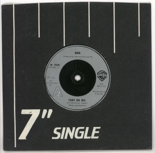 "A-Ha Take On Me - inj 7"" vinyl single (7 inch record) UK AHA07TA724513"