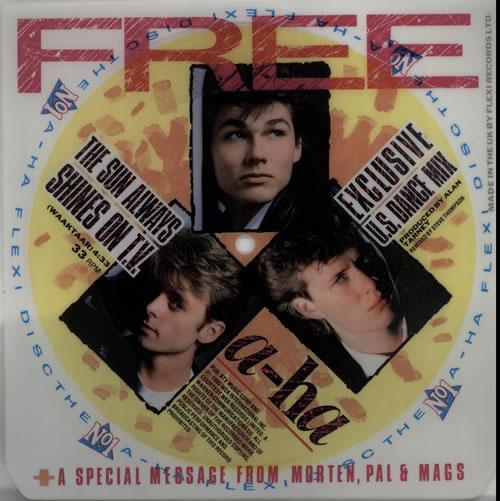 "A-Ha The Sun Always Shines On T.V. - Flexi 7"" vinyl single (7 inch record) UK AHA07TH08228"