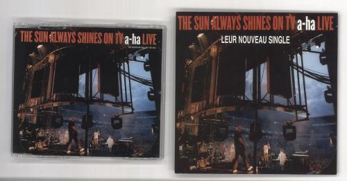 A-Ha The Sun Always Shines On TV - Live + Flyer CD album (CDLP) French AHACDTH241172