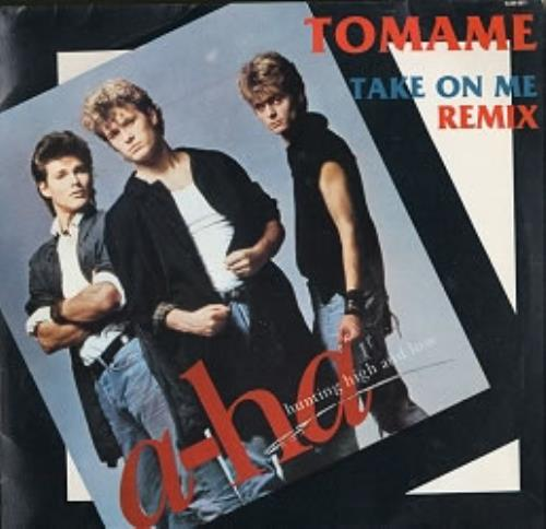 """A-Ha Tomame - (Take On Me) 12"""" vinyl single (12 inch record / Maxi-single) Mexican AHA12TO54819"""