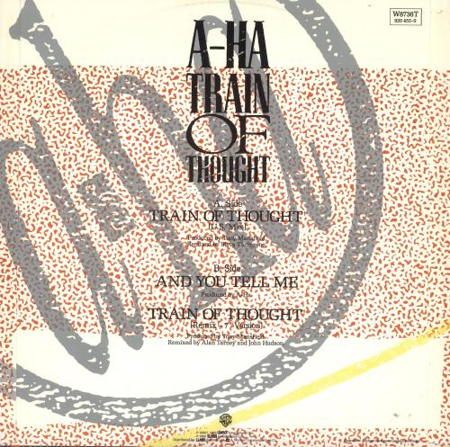 "A-Ha Train Of Thought + Poster - EX 12"" vinyl single (12 inch record / Maxi-single) UK AHA12TR737867"