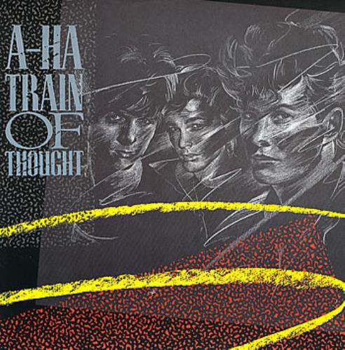 "A-Ha Train Of Thought 12"" vinyl single (12 inch record / Maxi-single) UK AHA12TR15226"