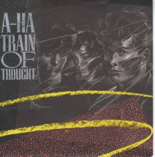 "A-Ha Train Of Thought 7"" vinyl single (7 inch record) UK AHA07TR38401"