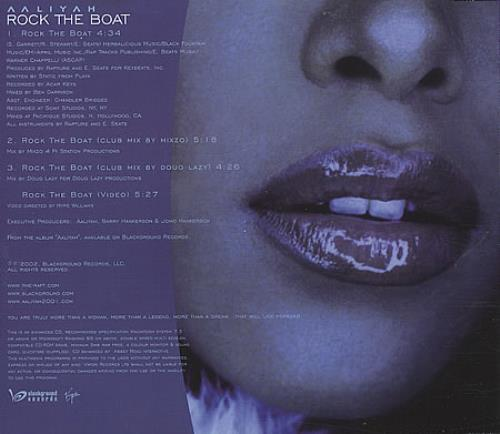"Aaliyah Rock The Boat UK CD single (CD5 / 5"") (212626)"