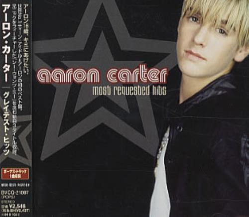 Aaron Carter Most Requested Hits CD album (CDLP) Japanese AACCDMO321558