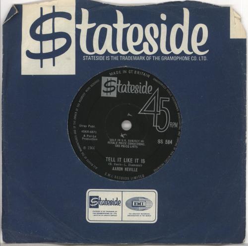 """Aaron Neville Tell It Like It Is 7"""" vinyl single (7 inch record) UK AAR07TE720007"""