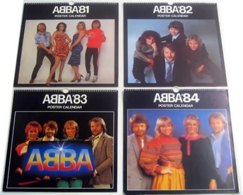 Abba 1981 1984 Calendars Uk Calendar 411005 Set Of 4 Calendars