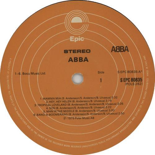 Abba Abba - 2nd vinyl LP album (LP record) UK ABBLPAB02186