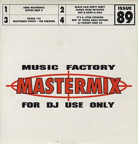 Abba Abba Mastermix - Music Factory Issue 89 UK Promo 2-LP